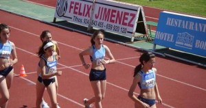 Campeonato de atletismo para escolares.